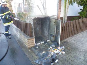 Mülltonnenbrand in Gerbrunn am 11.02.2012