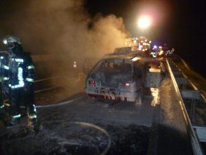 PKW Brand auf der A3 am 20.09.2012 (2)