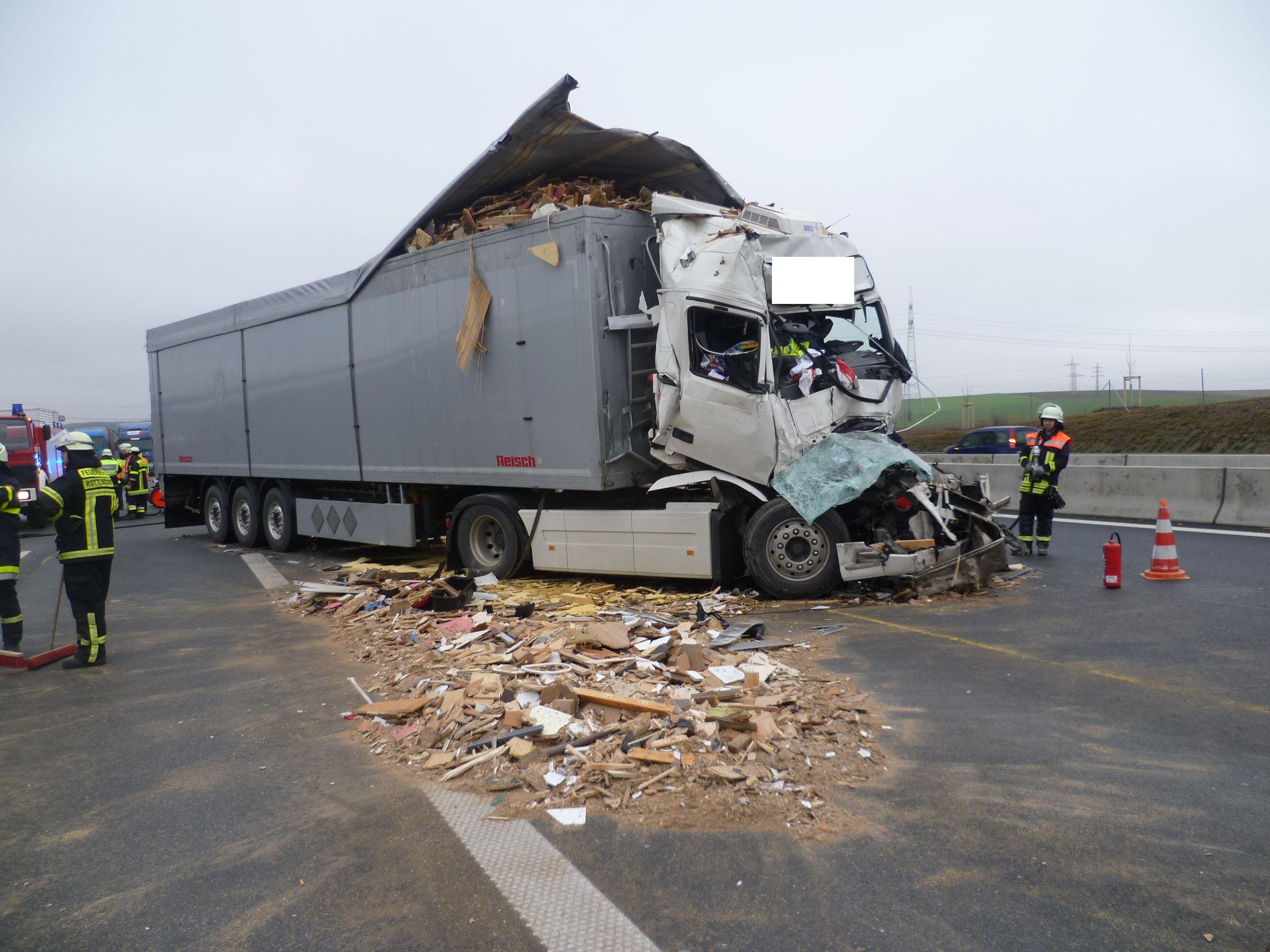 Einsatz – Schwerer Lkw-Unfall auf der A3